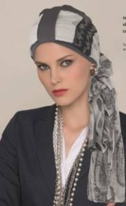 Turban with loop and seperate scarf